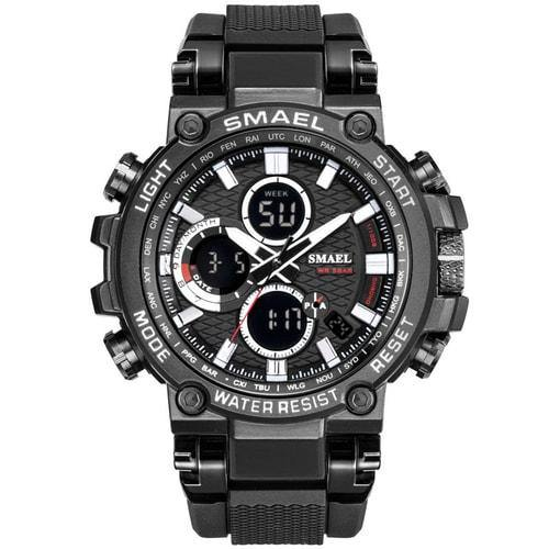 Smael Metal Black & Gun Metal Chronograph Watch-Smael South Africa-Smael South Africa
