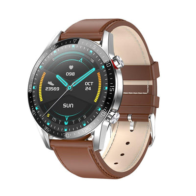 Microwear L13 Fitness/Smartwatch - Brown Leather