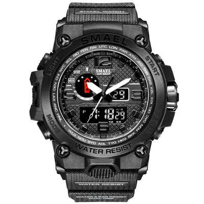 Smael 1545D Black Multifunctional Watch
