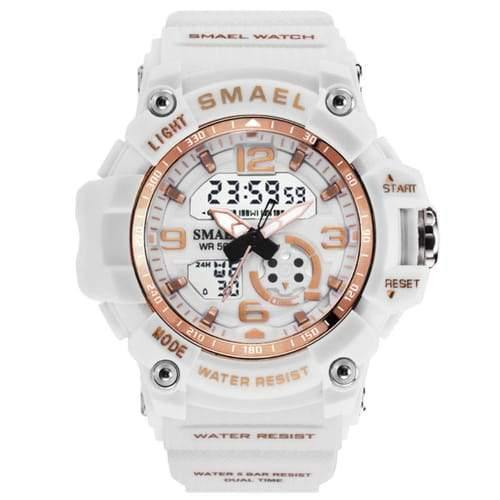 Kids Smael White & Gold Chronograph Watch-Smael South Africa-Smael South Africa