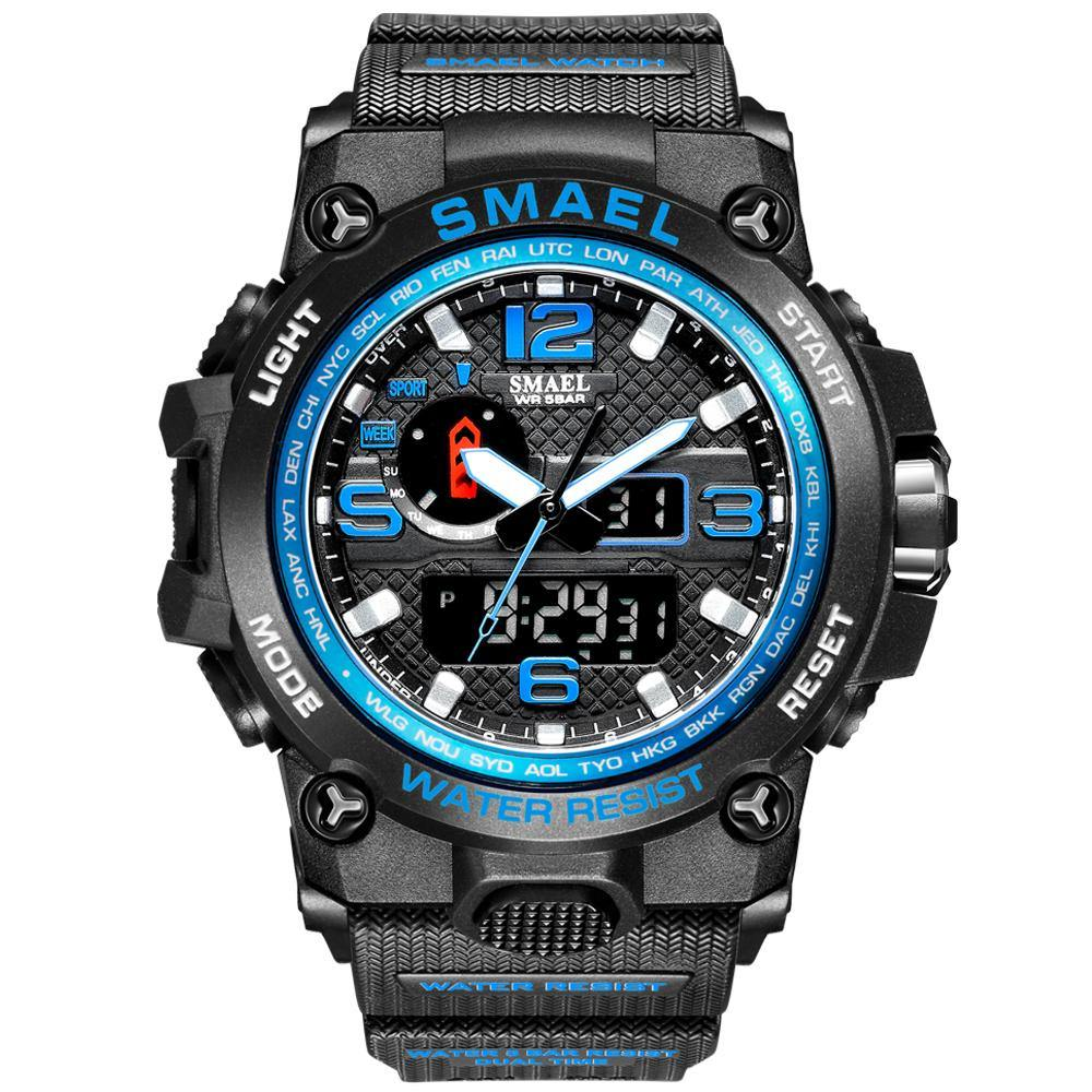 Smael 1545D Blue Multifunctional Watch