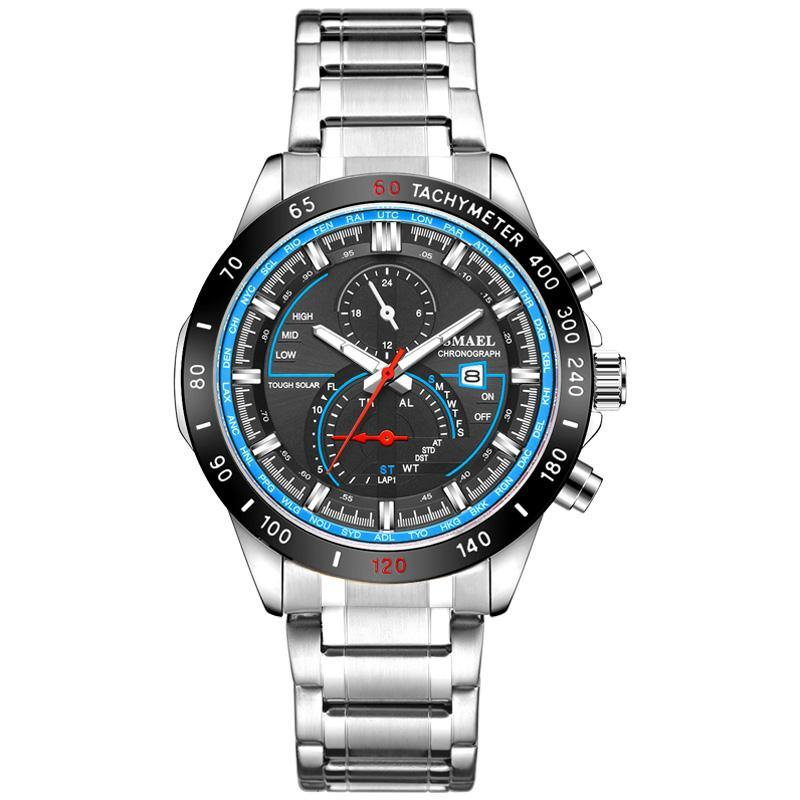 Smael SL-9062 Executive Watch - Black Blue
