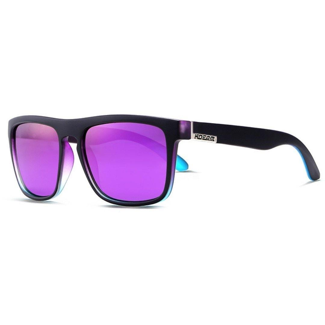 Kdeam KD156 Black/Purple Polarized Sunglasses-Smael South Africa-Smael South Africa
