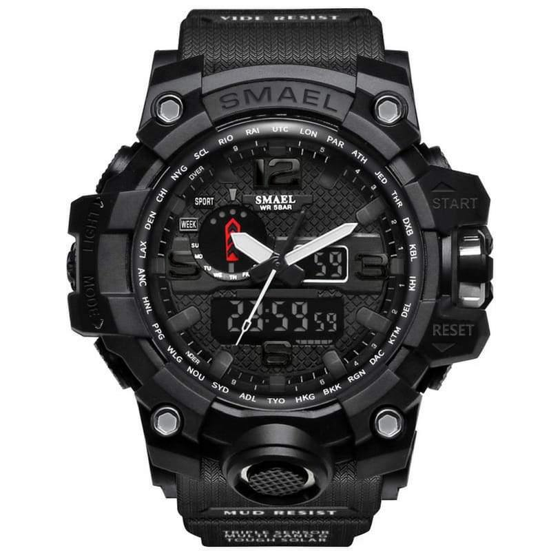 Smael Black Multifunctional Watch-Smael South Africa-Smael South Africa