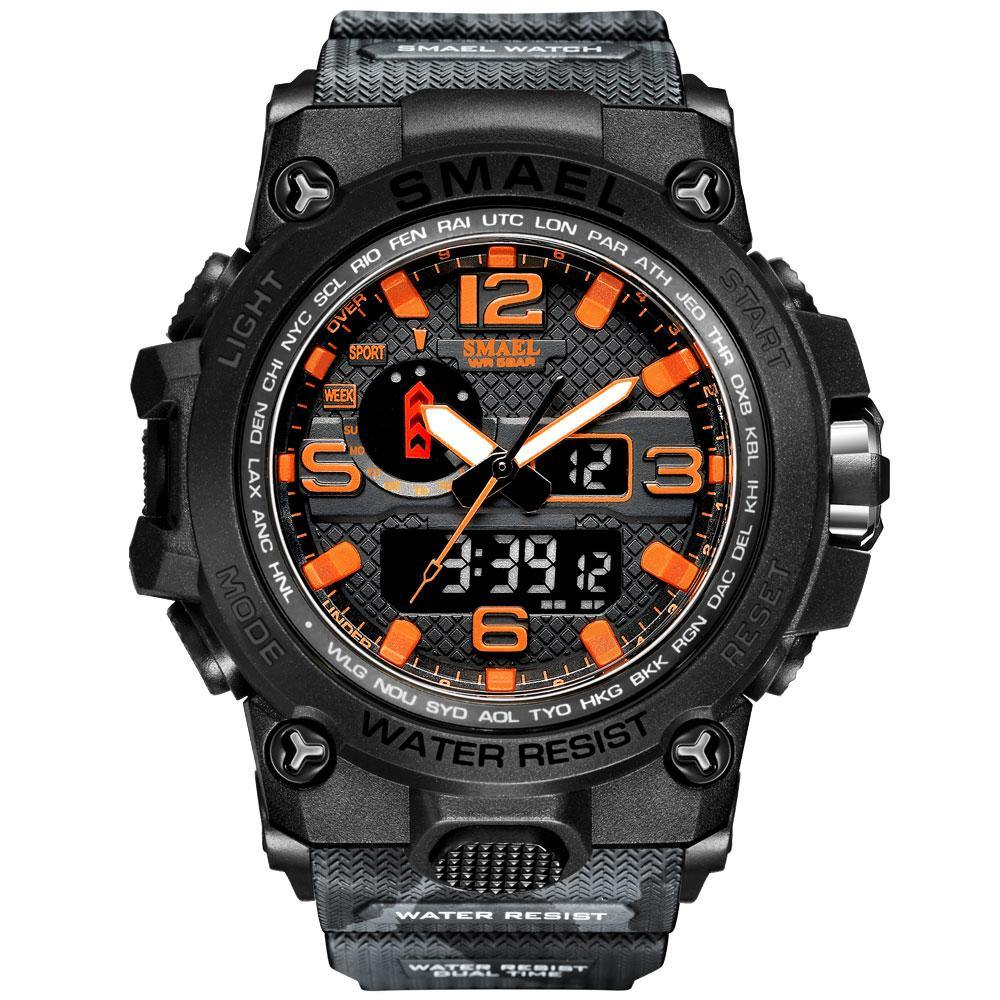 Smael 1545D Camouflage Orange Multifunctional Watch