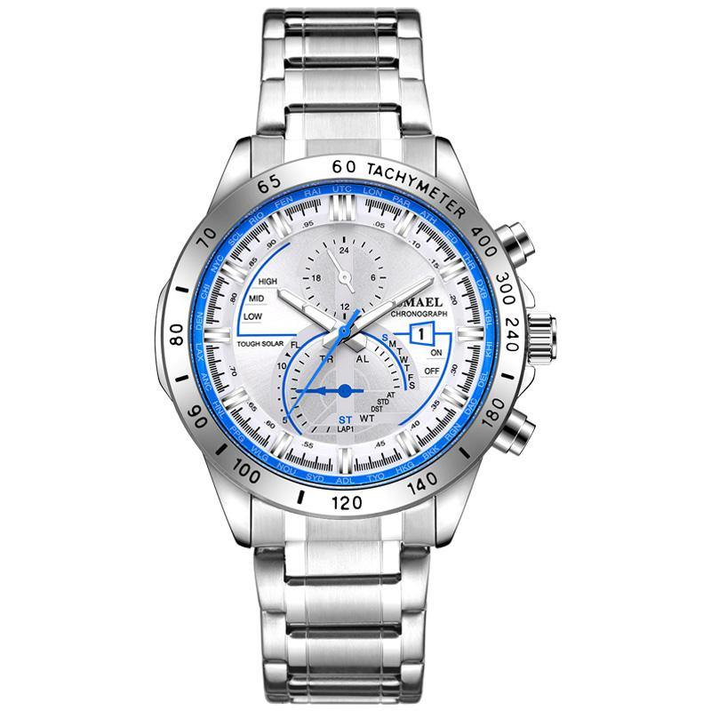 Smael SL-9062 Executive Watch - Silver Blue