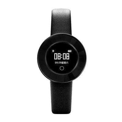 Microwear X6 Ladies Smartwatch - Black Leather