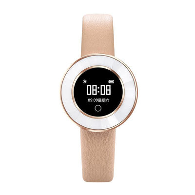 Microwear X6 Ladies Smartwatch - Gold Leather