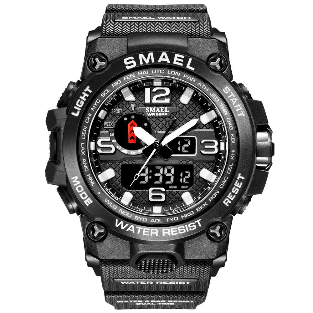 Smael 1545D Silver Multifunctional Watch