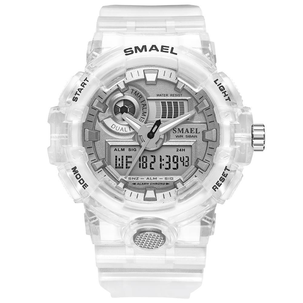 Smael 8023 White Sports Watch