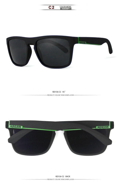 Kdeam KD156 Black/Green Polarized Sunglasses-Smael South Africa-Smael South Africa