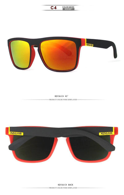 Kdeam KD156 Red/Yellow Polarized Sunglasses-Smael South Africa-Smael South Africa