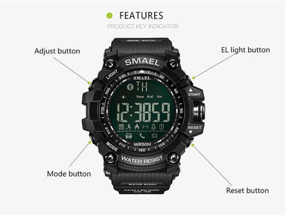 Smael Gold Bluetooth Sport Watch-Smael South Africa-Smael South Africa