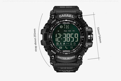 Smael Khaki Bluetooth Sport Watch-Smael South Africa-Smael South Africa