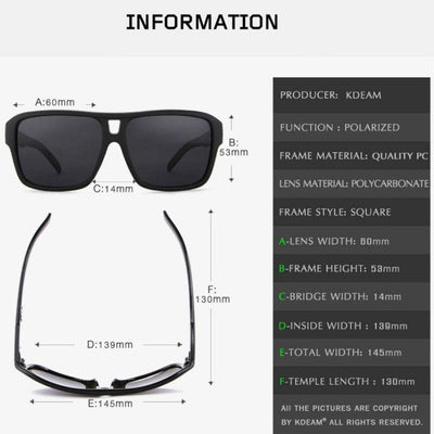 Kdeam KD520 #210 Polarized Sunglasses