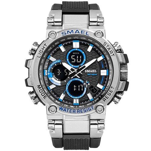 Smael Metal Silver Blue Chronograph Watch-Smael South Africa-Smael South Africa