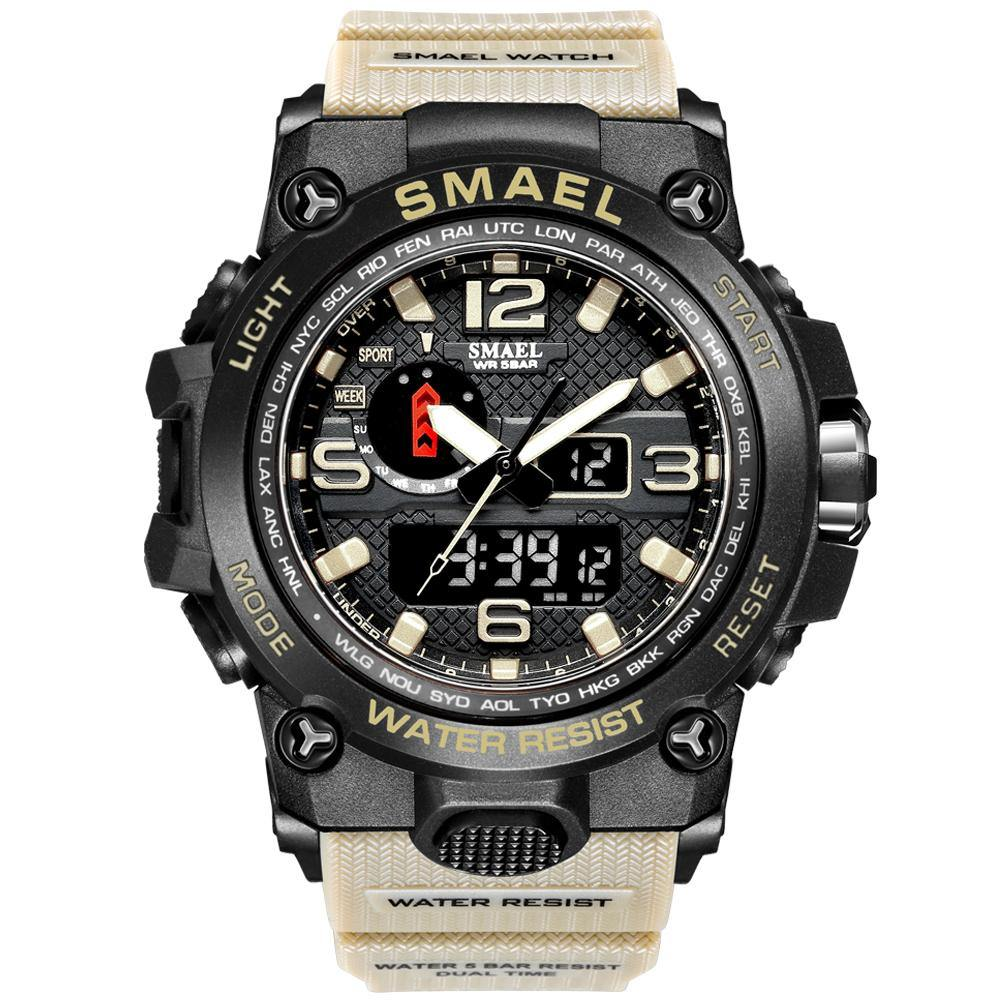 Smael 1545D Khaki Multifunctional Watch