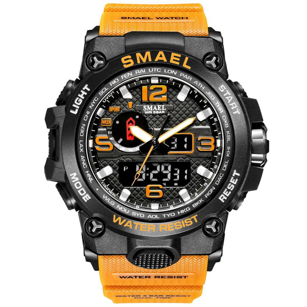 Smael 1545D Yellow Multifunctional Watch
