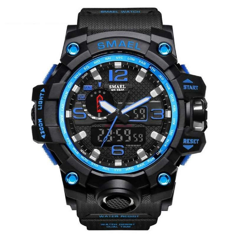 Smael Blue Multifunctional Watch-Smael South Africa-Smael South Africa