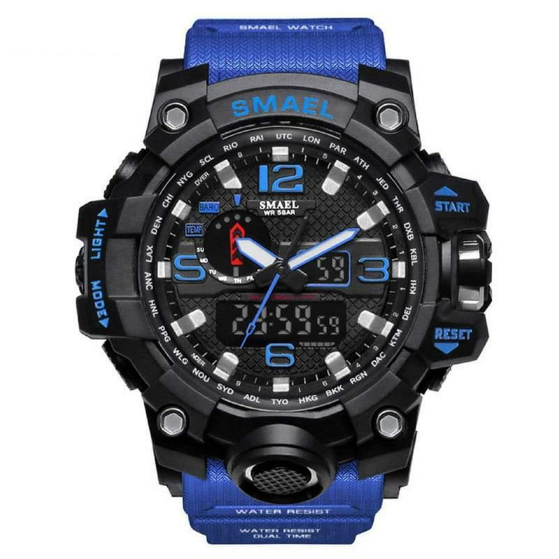 Smael Dark Blue Multifunctional Watch-Smael South Africa-Smael South Africa