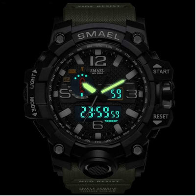 Smael Khaki Multifunctional Watch-Smael South Africa-Smael South Africa