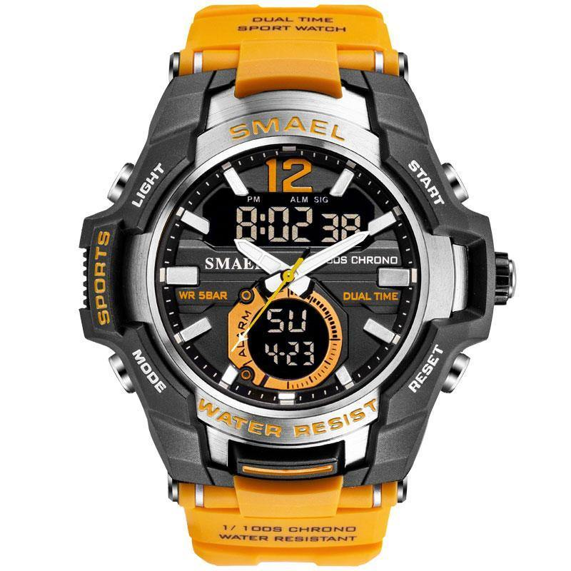 Smael Yellow Alloy Dual Time Watch - Smael South Africa