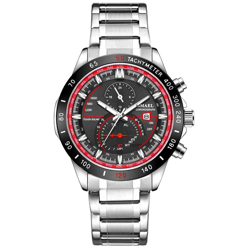 Smael SL-9062 Executive Watch - Black Red