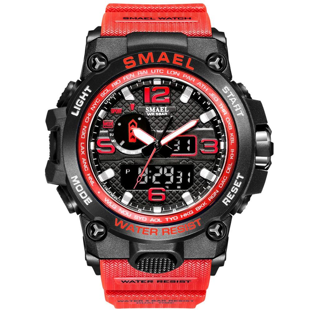 Smael 1545D Red Multifunctional Watch