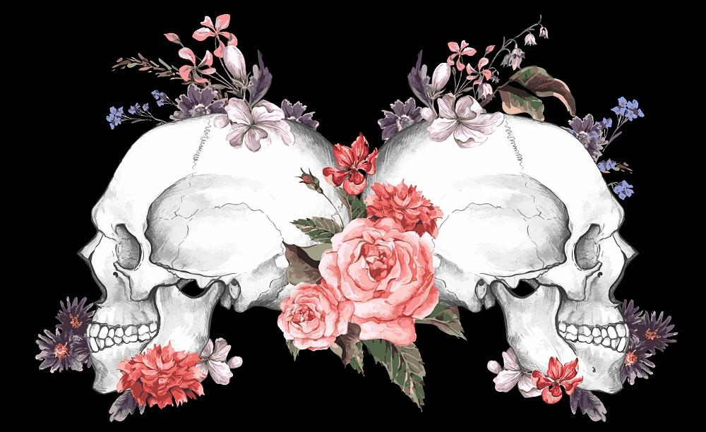 What Does the Skull With Flowers Symbol Mean? Only In Tattoos?