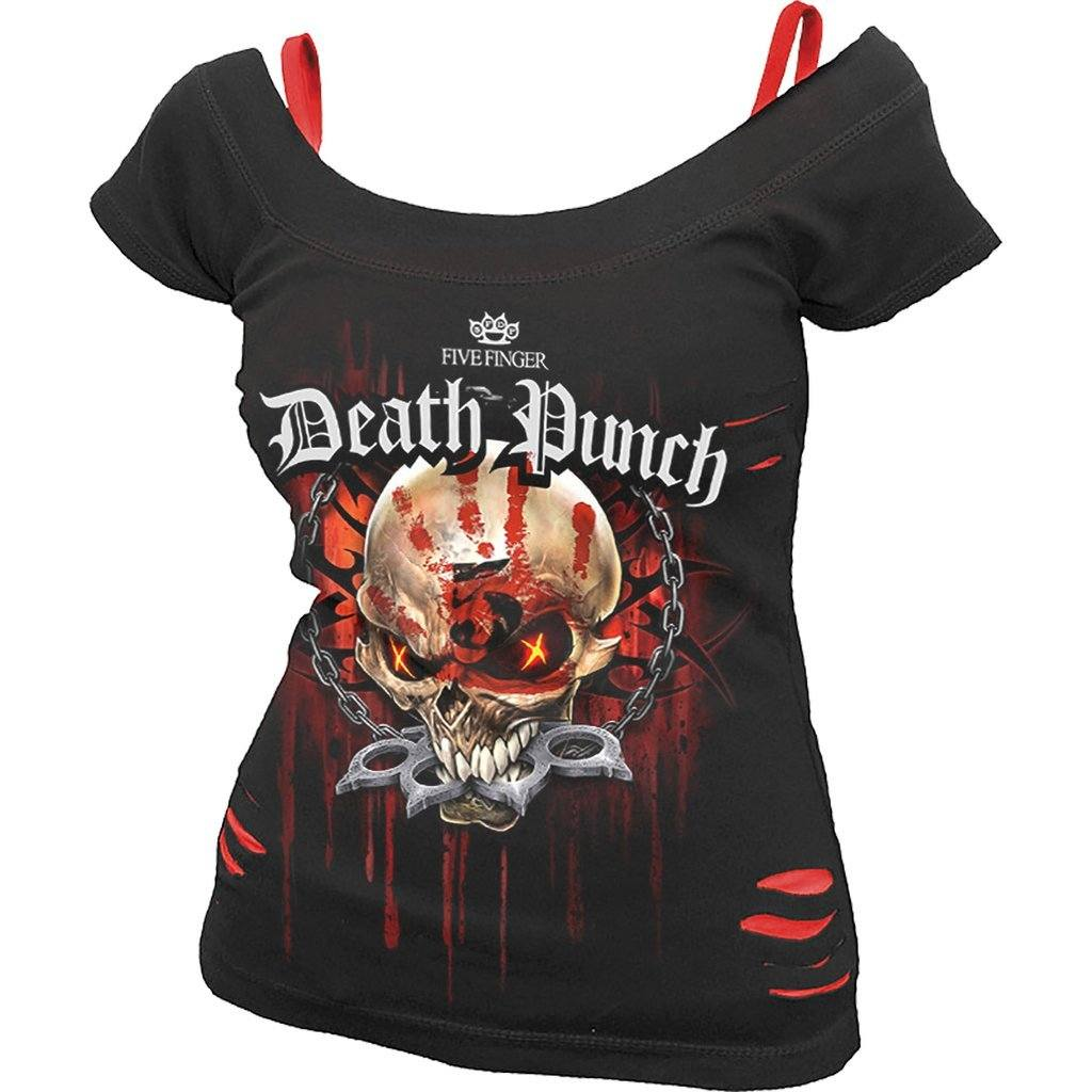 5FDP Reaper Assassin Women's 2in1 Black Short Sleeve