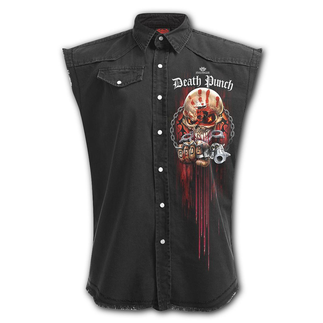 5FDP Reaper Assassin Men's Black Sleeveless Shirt - Rebels Depot