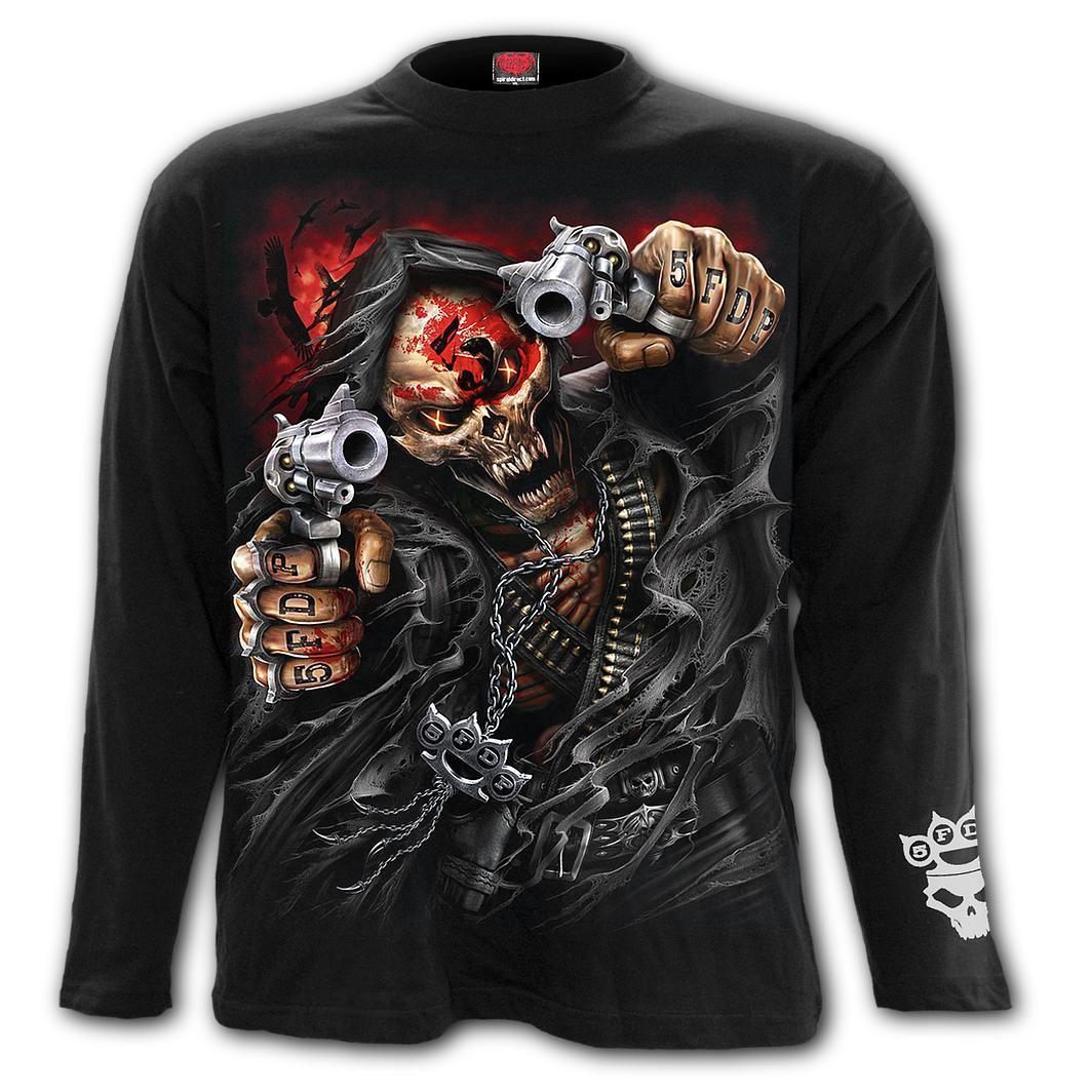 5FDP Reaper Assassin Men's Black Longsleeve Shirt - Rebels Depot