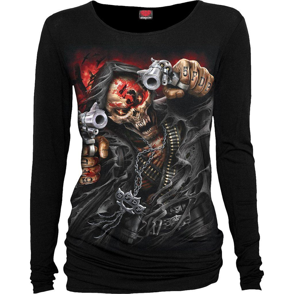 5FDP Reaper Assassin Women's Black Longsleeve Top - Rebels Depot