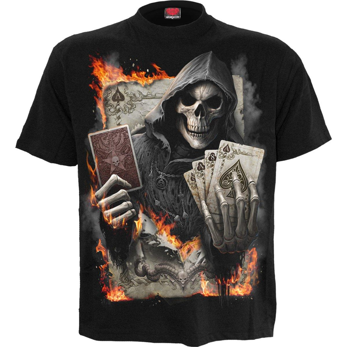 Gambling Grim Reaper Men's Black T-Shirt