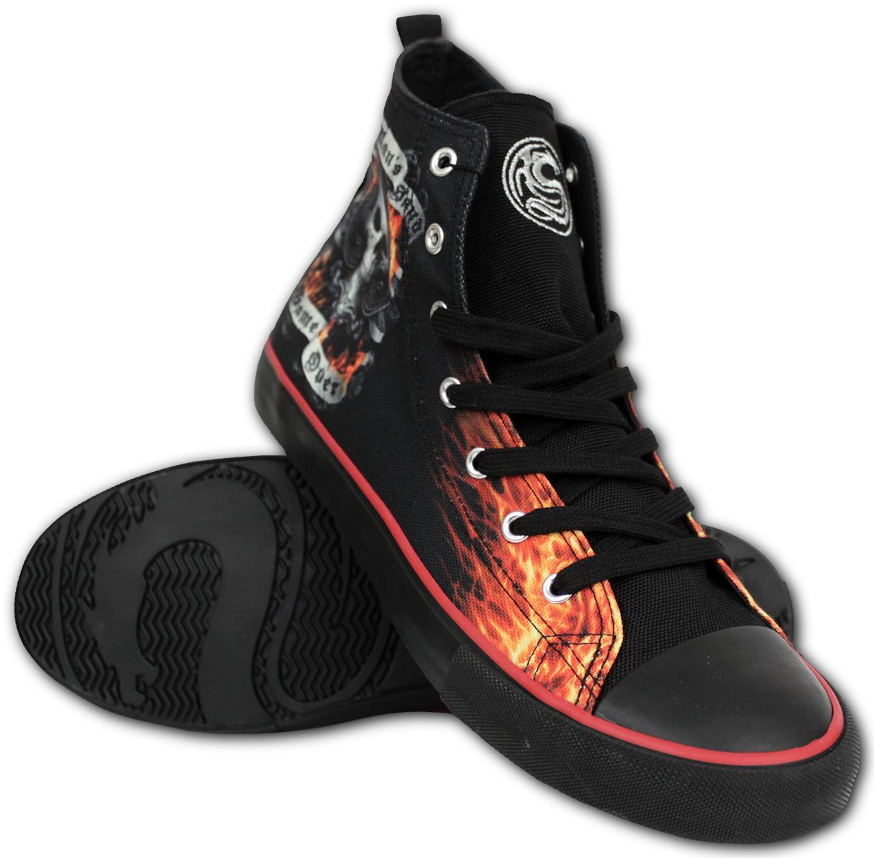 Poker Ace Grim Reaper Men's High-Top Sneakers