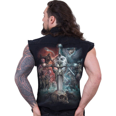 Sword & Skull Men's Black Sleeveless Shirt - Rebels Depot