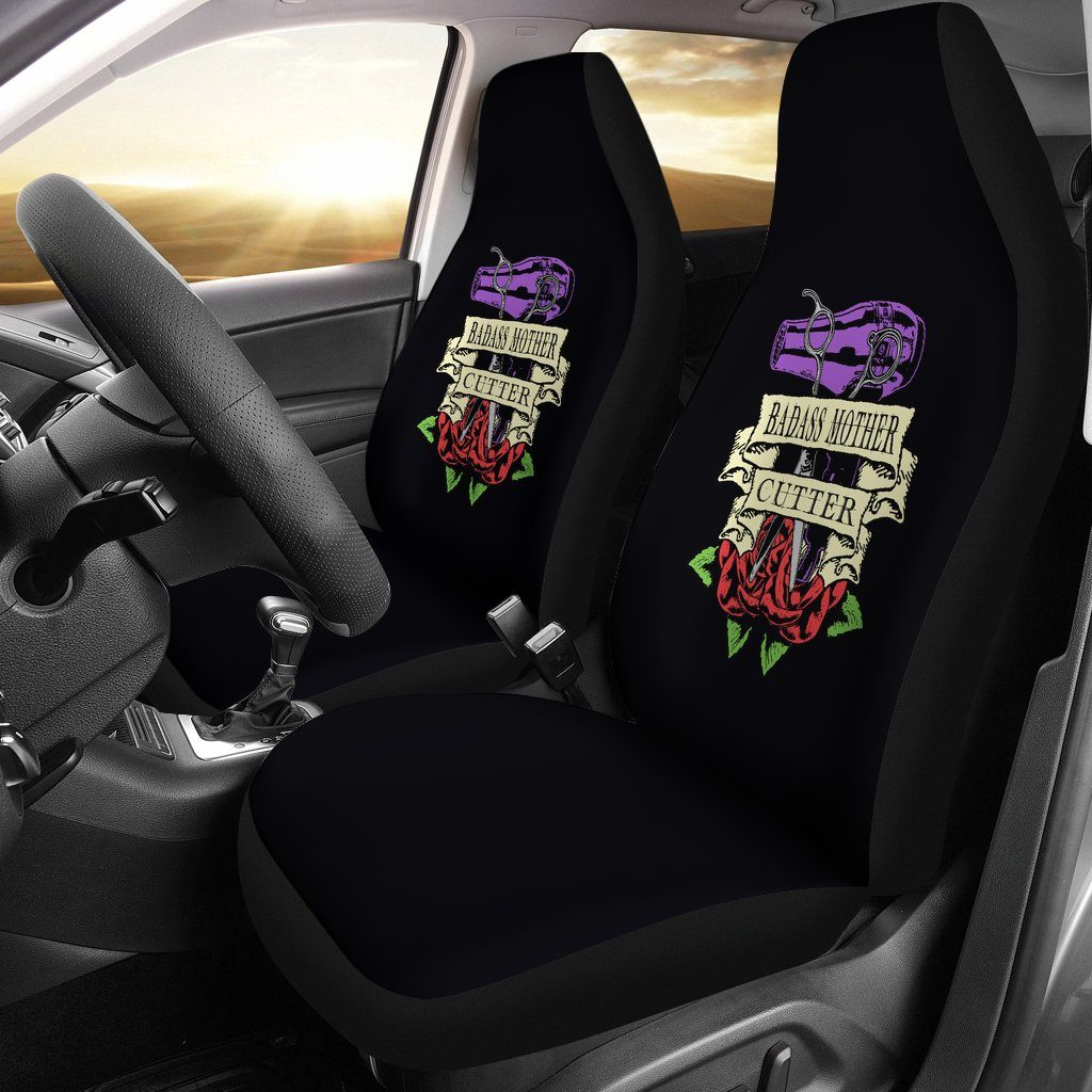 Badass Hair Stylist Car Seat Covers - Rebels Depot