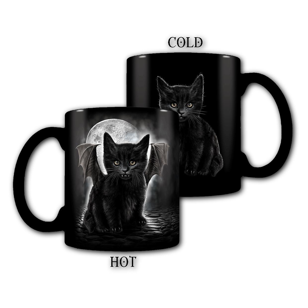 BAT CAT - Heat Changing Vampire Kitten Coffee Mug - Rebels Depot