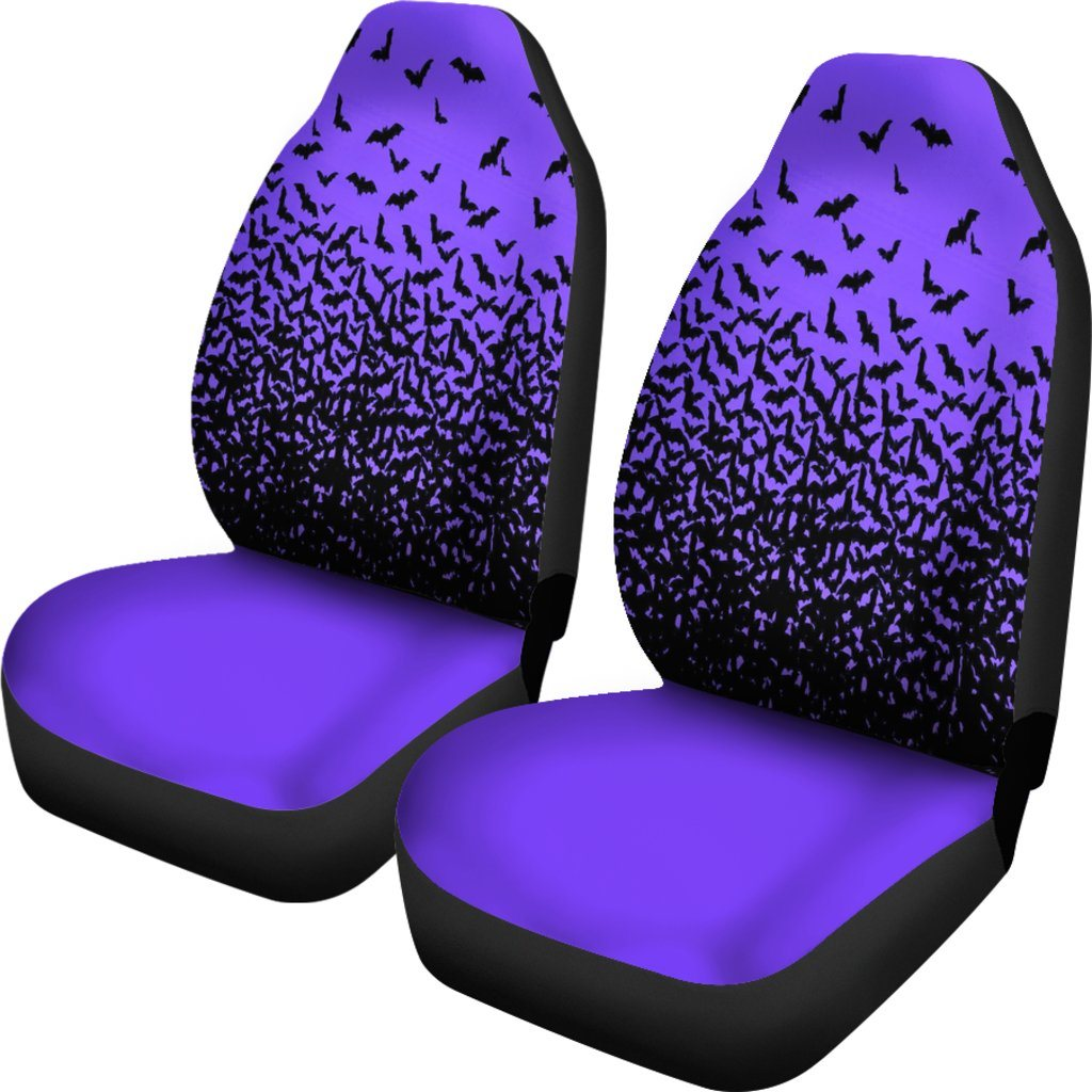 Flying Bats Purple Car Seat Covers