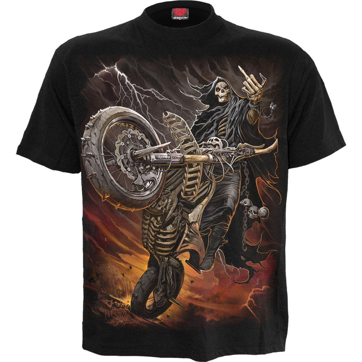 Grim Reaper Biker Men's Black T-Shirt