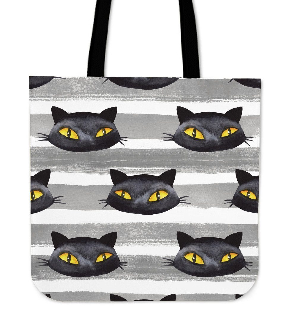 Cute Black Cat Cloth Tote Bag