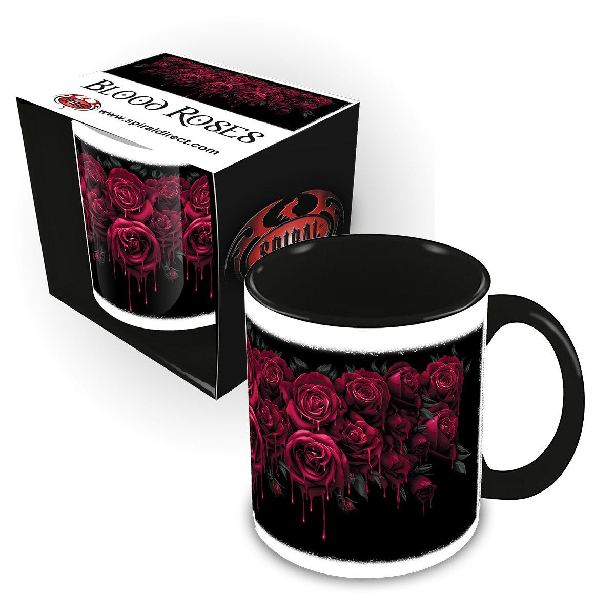 Gothic Blood Rose Ceramic Coffee Mug