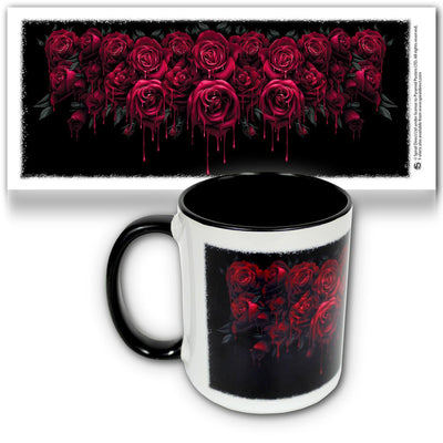 BLOOD ROSE - Beautiful Garland Ceramic Mug - Rebels Depot