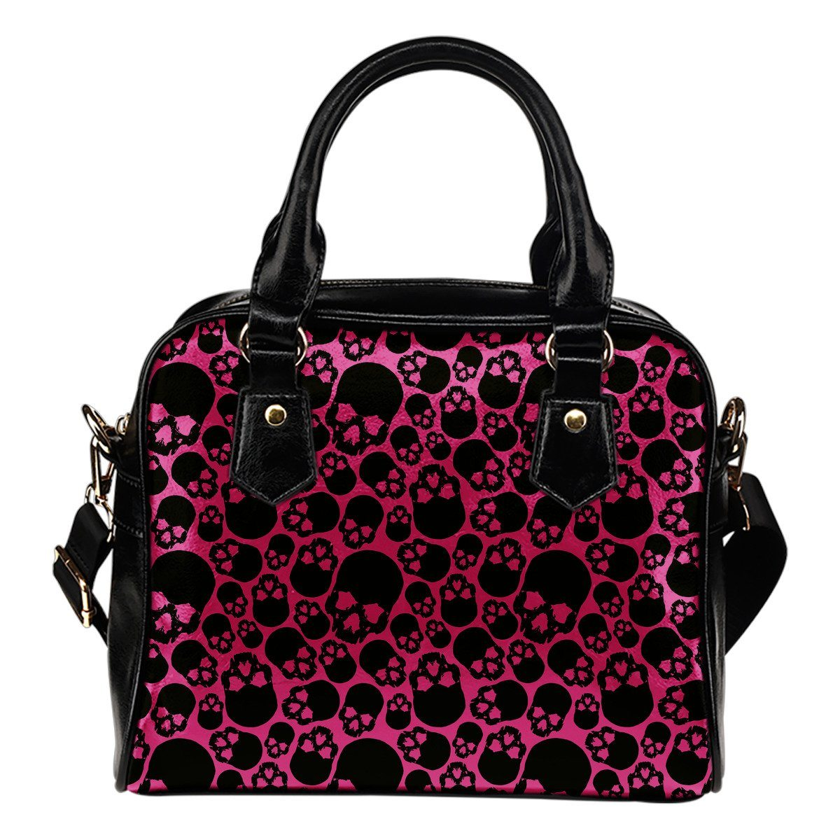 Bloody Skulls Leather Handbag