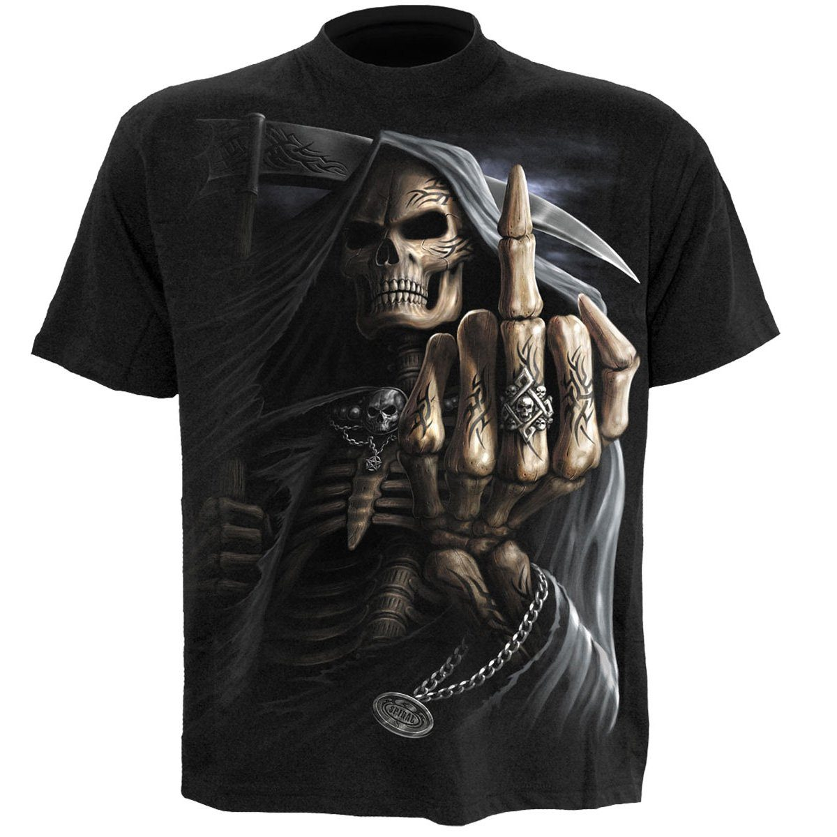 Defiant Grim Reaper Men's Black T-Shirt