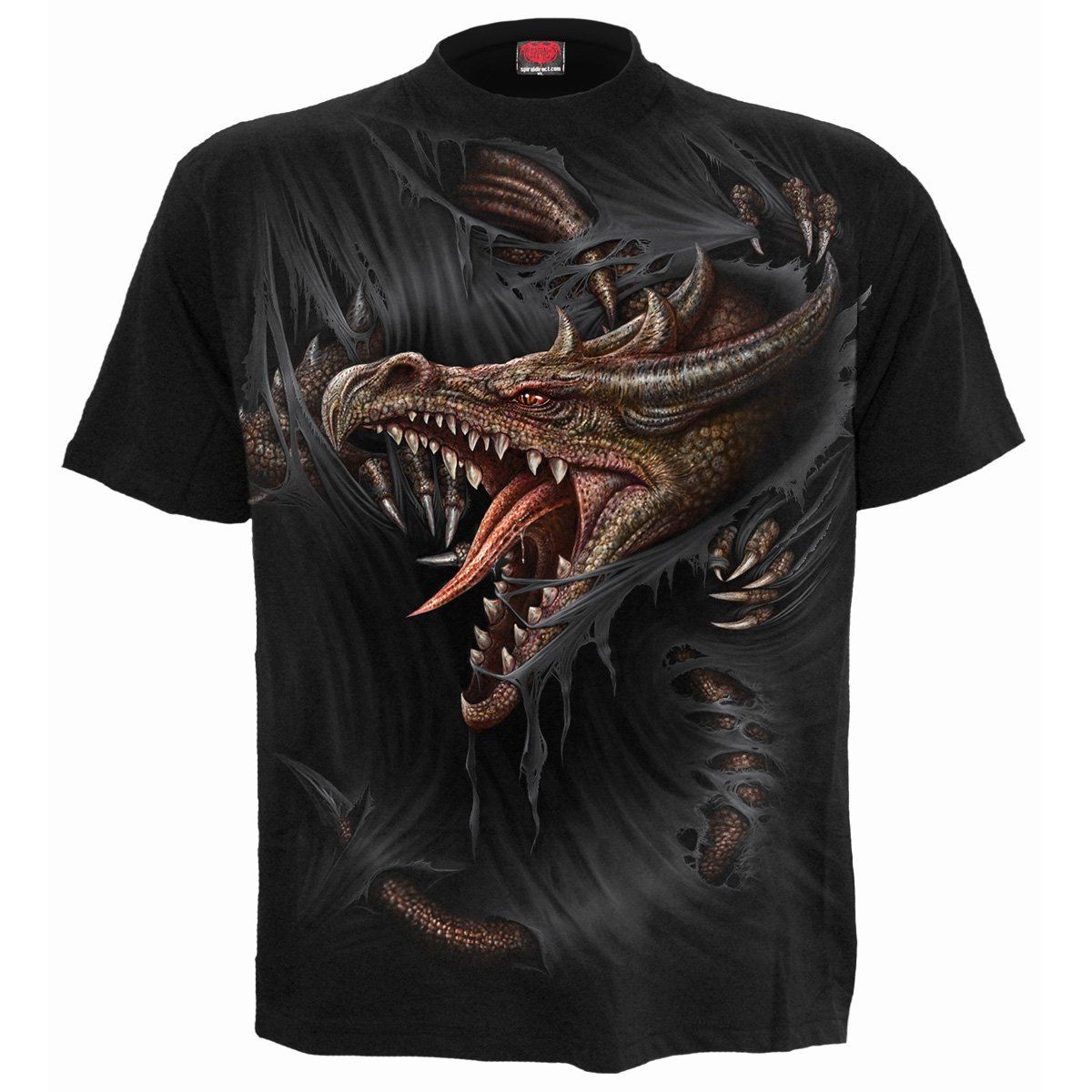 Captive Dragon Men's Black T-Shirt