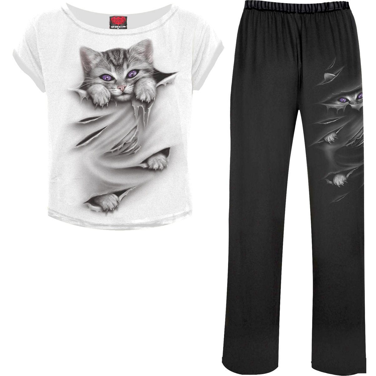 Kitten Eyes Women's 4-Piece Pajama Set