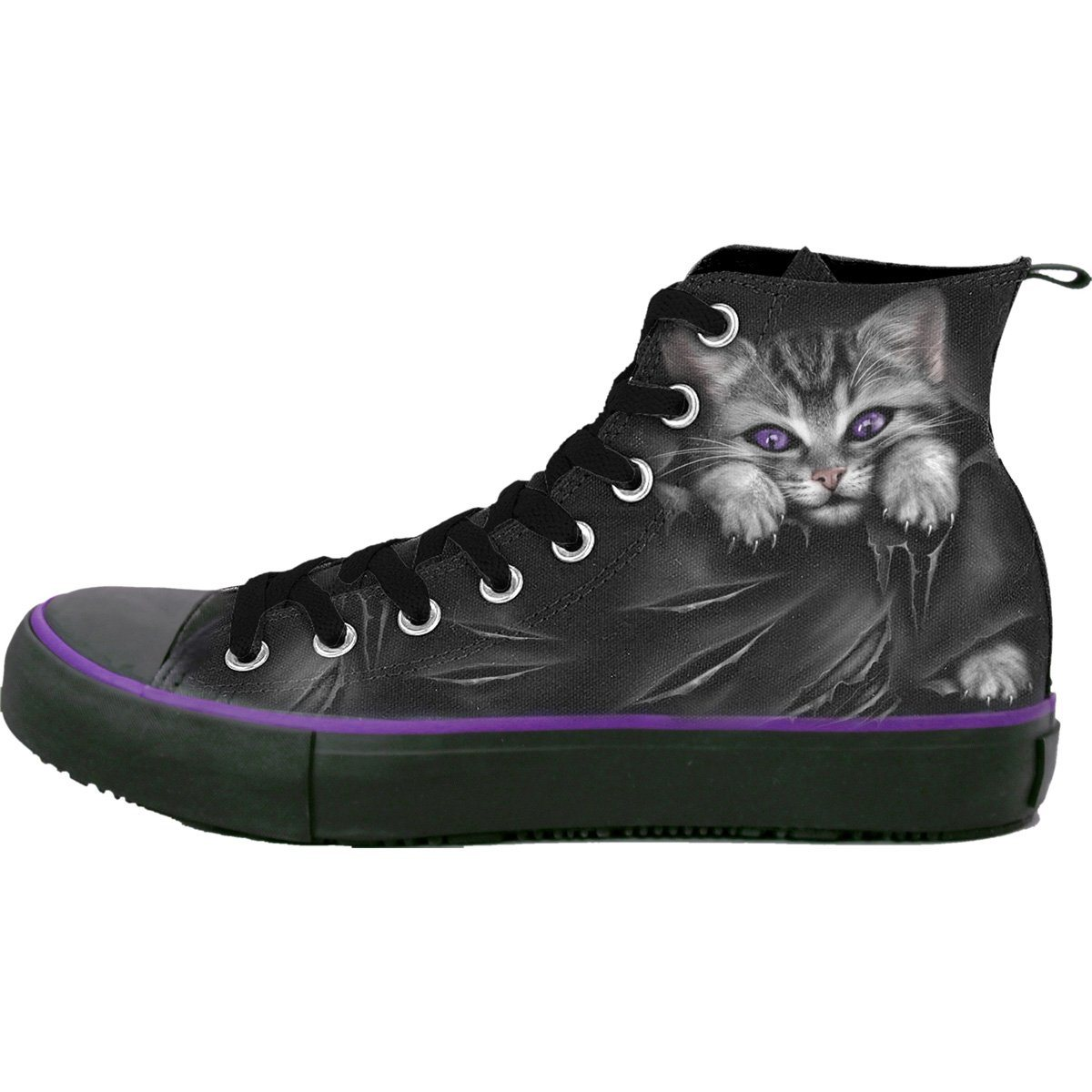 Bright Eyes Women's High-Top Sneakers - Rebels Depot
