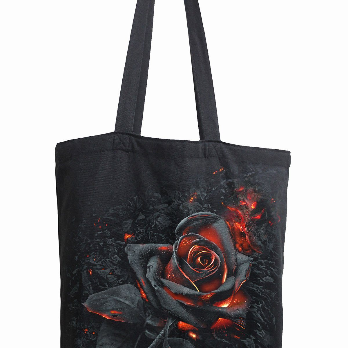Burning Rose Cloth Tote Bag - Rebels Depot