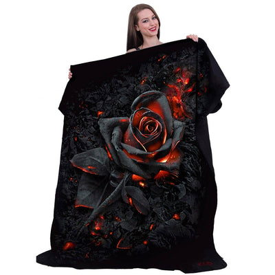BURNT ROSE - Ember to Ashes Fleece Blanket - Rebels Depot